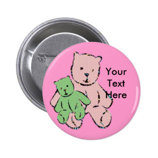 Childrens Button - Personalize - Name Tag