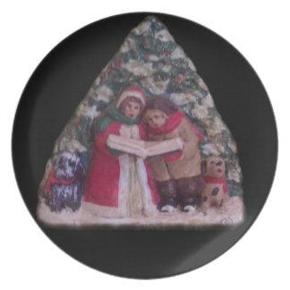 CHILDREN'S CAROLS 113 CHRISTMAS VILLAGE PLATE