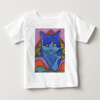 Children's Cat by Piliero Baby T-Shirt