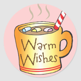 Children's Christmas Stickers Warm Wishes