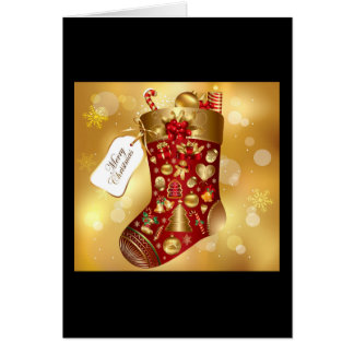Children's Christmas Stocking Greeting Cards