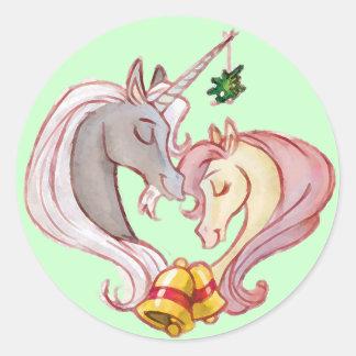Children's Christmas Unicorn Stickers