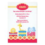 """Children's circus train birthday party invitation 5"""" x 7"""" invitation card"""