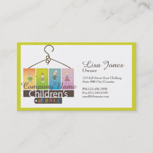 Kids store business cards templates zazzle childrens clothing store business cards colourmoves