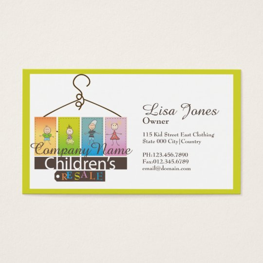 Childrens clothing store business cards zazzle childrens clothing store business cards colourmoves Gallery