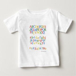 Children's Colorful Alphabet Upper + Lower Case Baby T-Shirt