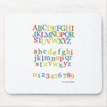 Children's Colorful Alphabet Upper + Lower Case Mouse Pad