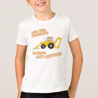 Children's construction worker yellow t-shirt