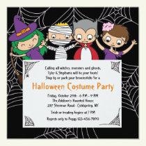 Children's Costume Halloween Party Invitation