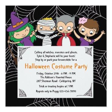 Halloween Themed Children's Costume Halloween Party Invitation