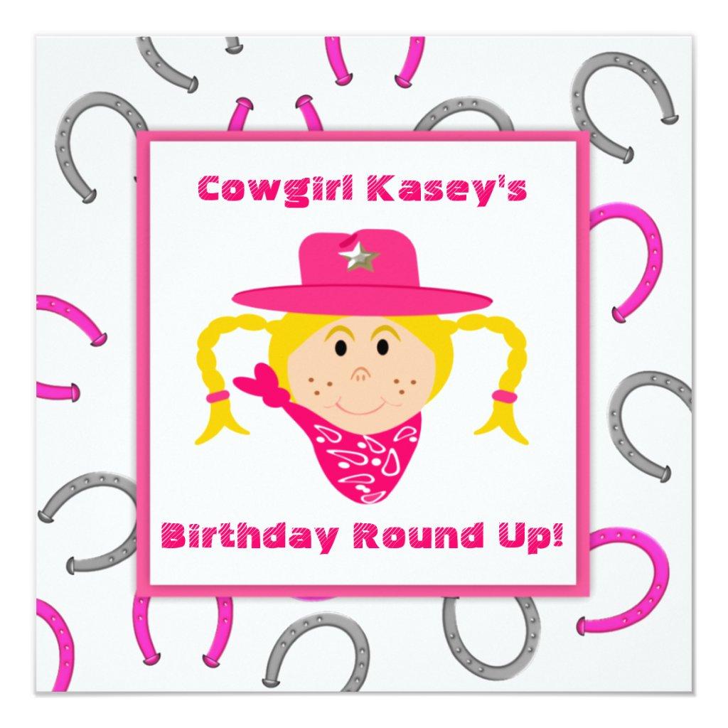 Children's Cowgirl Party Blond Girl Birthday