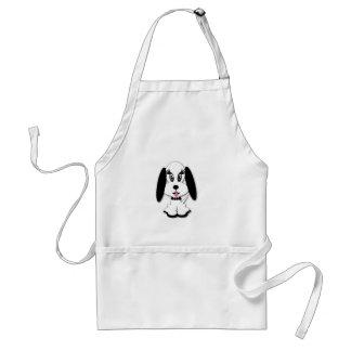 Children's Cute Black and White Dog Design Adult Apron
