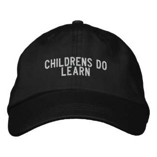 Childrens do learn embroidered baseball caps