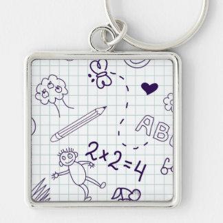 Children's Drawing Pattern Keychain