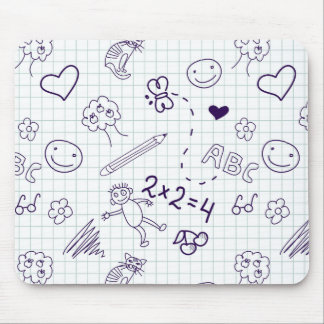 Children's Drawing Pattern Mouse Pad