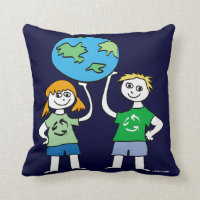 Children's Earth Day Message Pillow