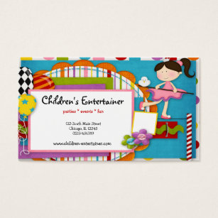Entertainment business cards templates zazzle childrens entertainer business card colourmoves