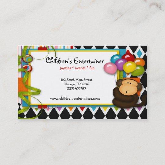 Childrens entertainer business card zazzle childrens entertainer business card colourmoves