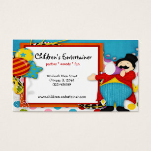 Childrens entertainer business cards templates zazzle childrens entertainer business card colourmoves