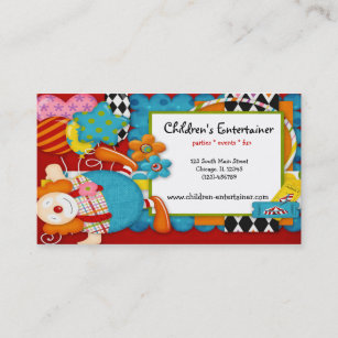 Childrens entertainer business cards zazzle childrens entertainer business card colourmoves