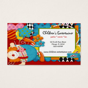 Circus entertainer business cards templates zazzle childrens entertainer business card colourmoves
