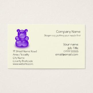 Childrens Entertainment - Purple Bear Sweetie Business Card