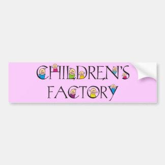 Children's Factory Bumper Sticker