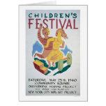 Childrens Festival NYC 1940 WPA