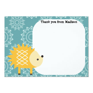 Children's Flat Panel Thank You Cards Hedgehog