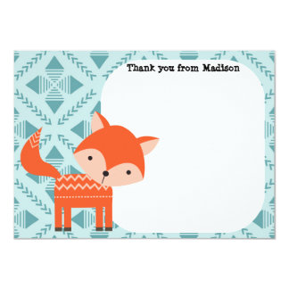 Children's Flat Panel Thank You Cards Red Fox