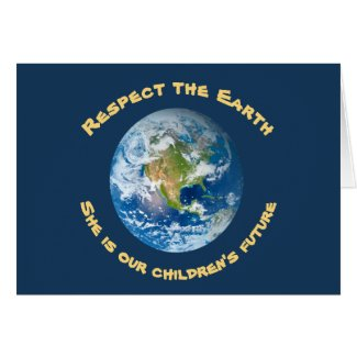 Childrens Future Planet Earth Day Card