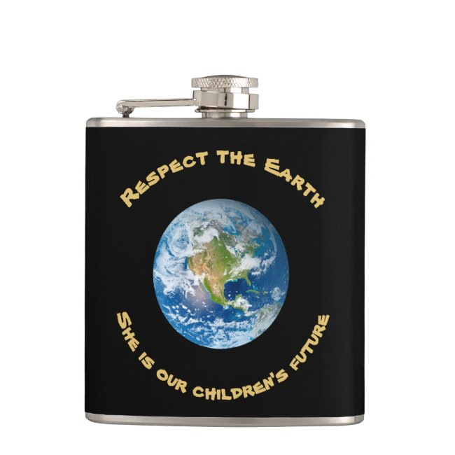 Childrens Future Respect Planet Earth Flask