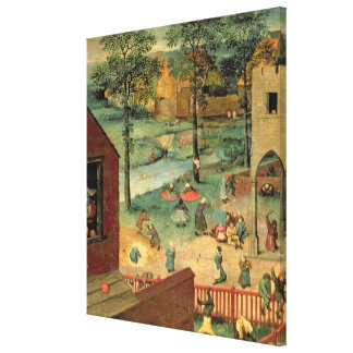 Children's Games , 1560 Canvas Print