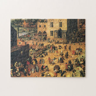 Children's Games Bruegel Midieval Jigsaw Puzzle