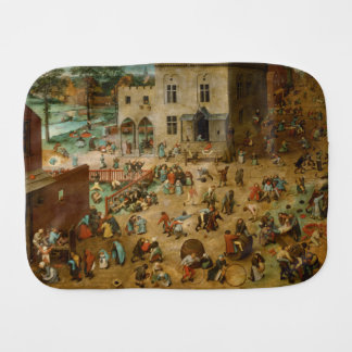 Children's Games by Pieter Bruegel the Elder Burp Cloth
