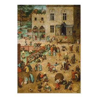 Childrens Games by Pieter Bruegel the Elder Card