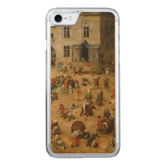 Children's Games by Pieter Bruegel the Elder Carved iPhone 8/7 Case