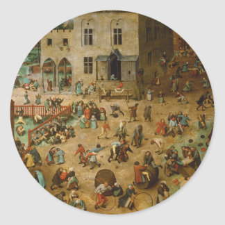 Childrens Games by Pieter Bruegel the Elder Classic Round Sticker
