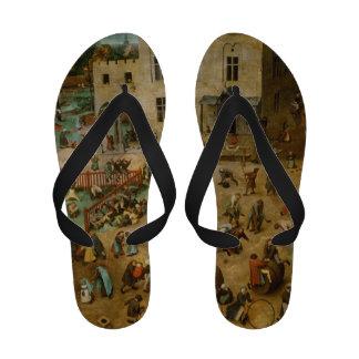 Childrens Games by Pieter Bruegel the Elder Sandals