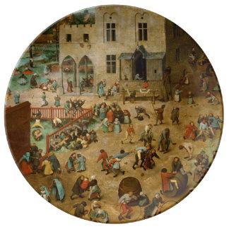 Children's Games by Pieter Bruegel the Elder Plate
