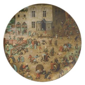 Childrens Games by Pieter Bruegel the Elder Plate