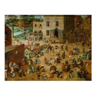 Childrens Games by Pieter Bruegel the Elder Postcard