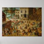 Childrens Games by Pieter Bruegel the Elder Poster