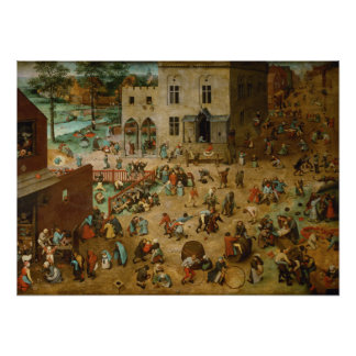 Childrens Games by Pieter Bruegel the Elder Poster