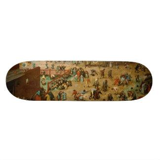 Children's Games by Pieter Bruegel the Elder Skate Board Deck