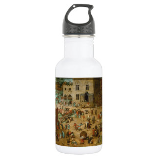 Childrens Games by Pieter Bruegel the Elder Stainless Steel Water Bottle
