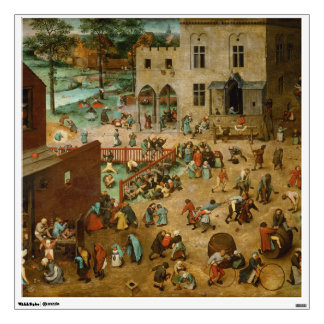 Childrens Games by Pieter Bruegel the Elder Wall Decal