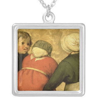 Children's Games : detail of a child Silver Plated Necklace