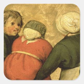 Children's Games : detail of a child Square Sticker