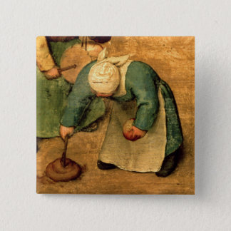 Children's Games : detail of a girl playing Button